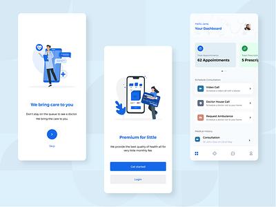 Doctor-On-Demand Mobile App mobile ui uiux dashboard hospital app doctor app