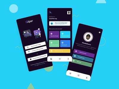 Qiiper Mobile mobile app design ux design friendship counseling