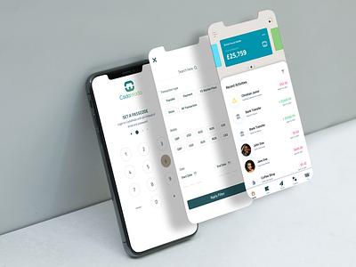 Mobile App Mockup dashboard payment money transfer mobile app design uiux