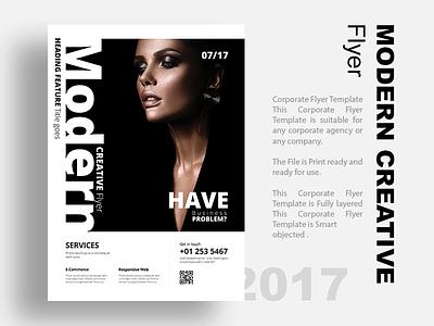Modern Creative Flyer template psd print ready modern model mockup mobile app idea flyer design creative clean