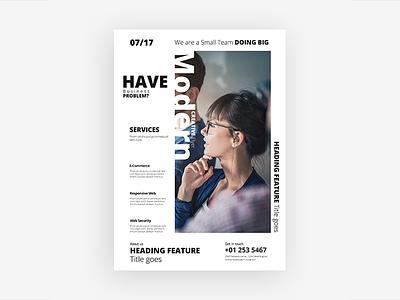Modern Creative Flyer graphic graphicriver flayer ux ui simple project minimalist minimal design creative color