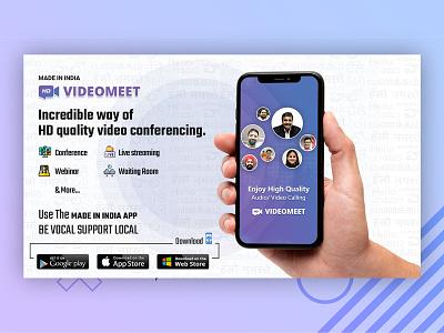 Video Meet Video calling App ui design branding