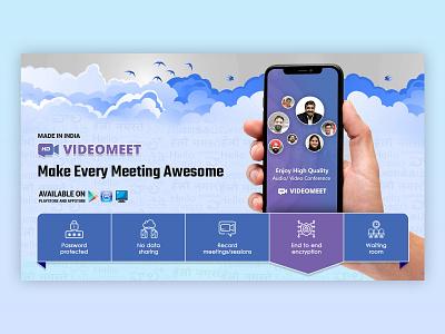 Video Chat VideoMeet design branding