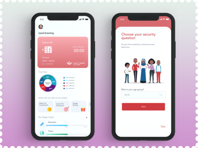 Investment App dachboard