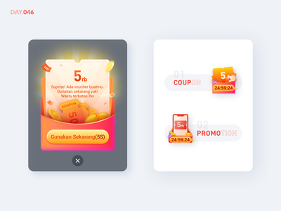 046-Coupon Popup ux promotions coupons promotion coupon loan app online shopping icon illustration design ui
