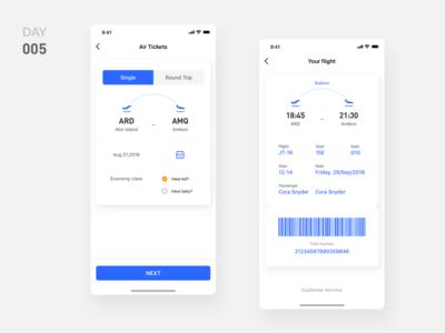 005-UI Design-Air Ticket