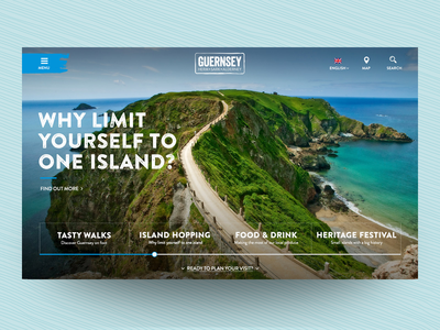 Concept design for Guernsey tourism website