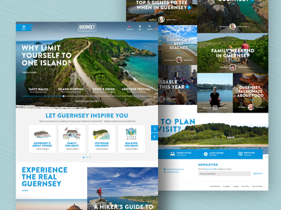 Concept design for Guernsey tourism (full page)