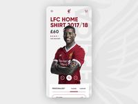 Liverpool FC - eCommerce Mobile Concept