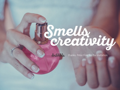 Hello dribbble - Smells creativity hello dribbble photomontage pielach pawel photoshop