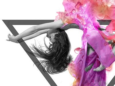 Flower emotion digital pawelpielach photomontage girl dance flower design graphic