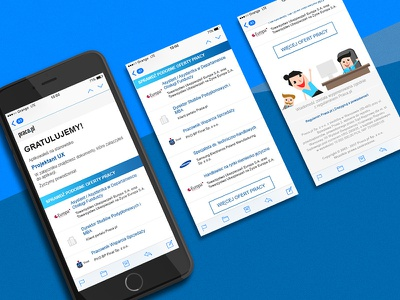 E-mail notifications. mobile graphic graphic design pielachpawel offer job offer ux ui design notifications email