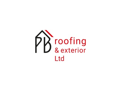 PB roofing & exterior / Canada vector pielachpawel branding graphic design graphic design logo logo design