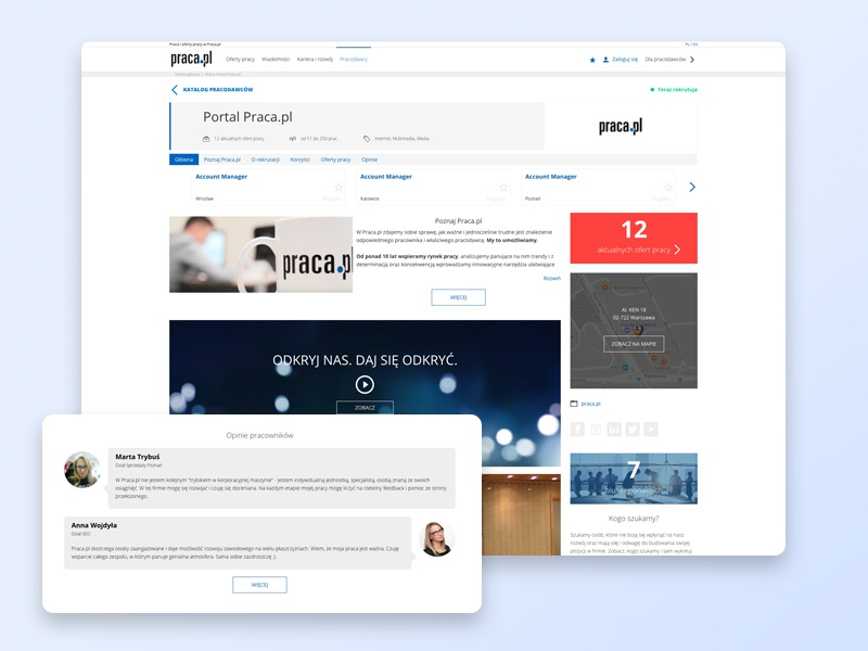 An Example Of A Company Profile By Pawel Pielach Dribbble Dribbble