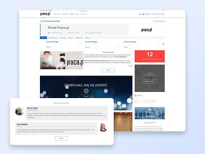 An example of a company profile. pielachpawel company profile jobboard graphicdesign web graphic webdesign design ui