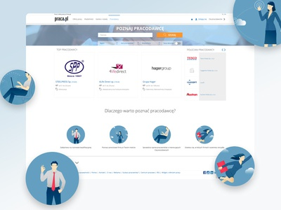 Get to know the employer pielachpawel ux ui graphic design webdesign design jobboard portal search employers searching