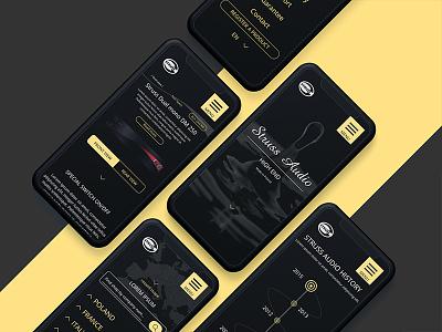 Mobile version - Struss Audio amplifier web mobile pielachpawel graphic design ux ui design