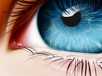 A serene blue eye