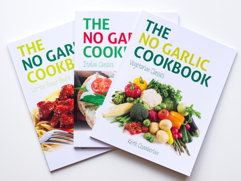The No Garlic Cookbook typesetting cookbook book print graphic design