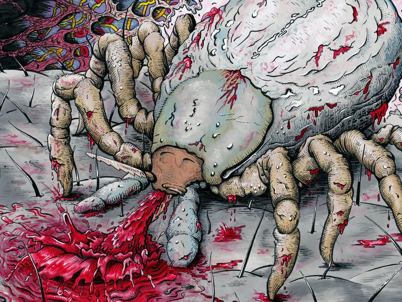 Parasitic Rejects: Coloured Artwork grunge horror gore album cover album art artwork illustration drawing ink markers