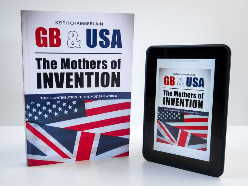 GB & USA: The Mothers of Invention kindle ebook book cover book design graphic design typesetting