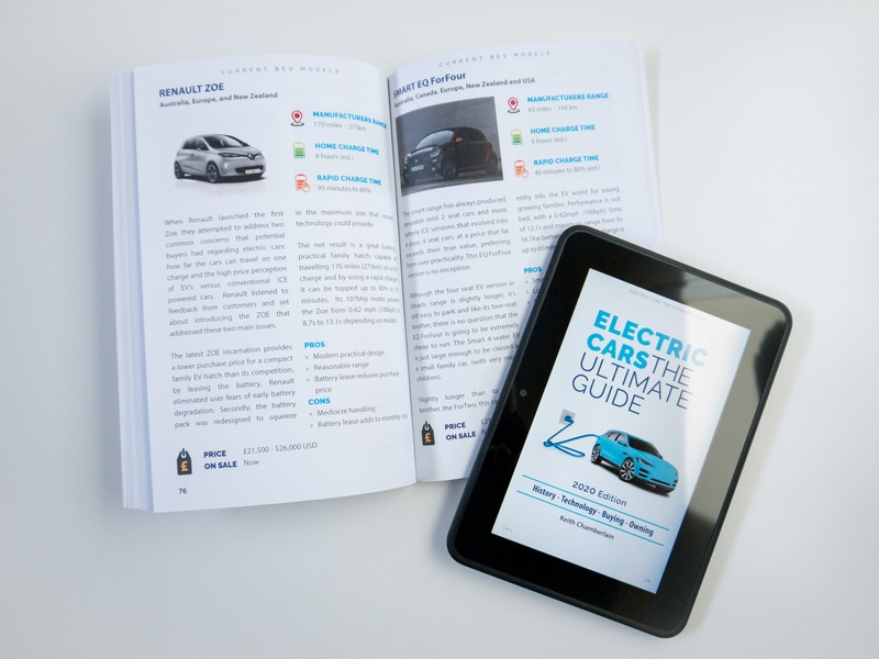 Electric Cars: The Ultimate Guide (interior sample) books layout indesign typesetting book design