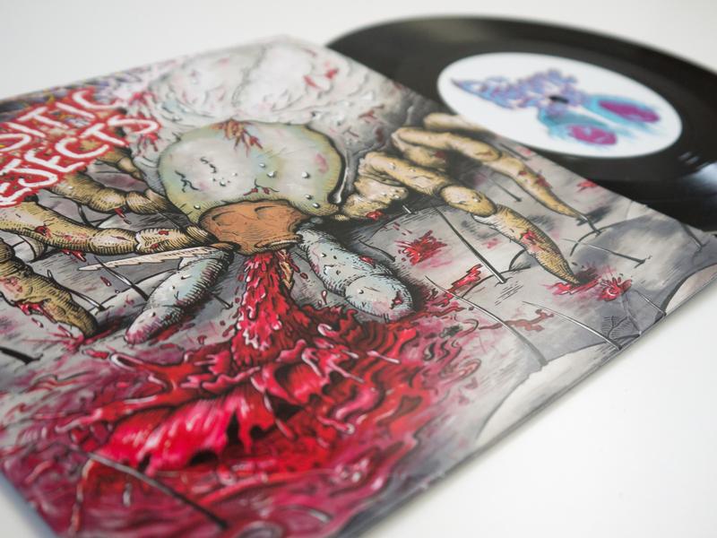 Parasitic Rejects. Vinyl Cover Artwork ink art album cover ink illustration artwork design graphic design illustration