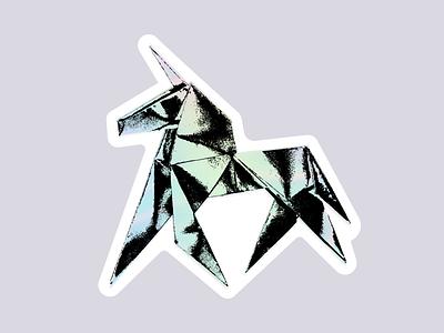 Blade Runner Sticker unicorn sticker mule holigram blade runner 2049 blade runner origami sticker