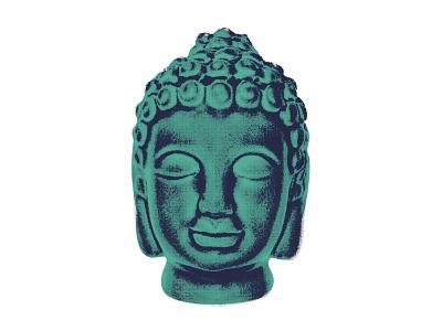 Zen peace yoga buddhism tee sticker teal enlightenment graphic buddha zen