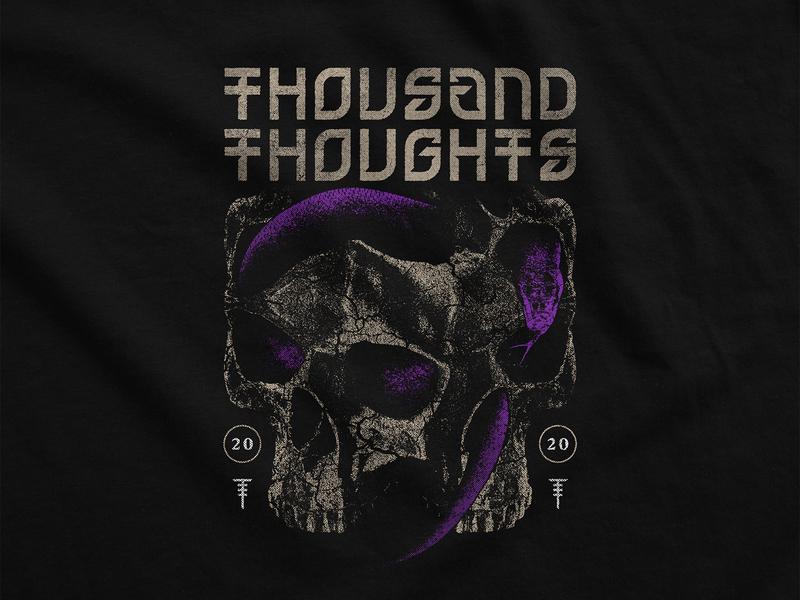 Skull Snake purple t-shirt design apparel merchandise snake skull
