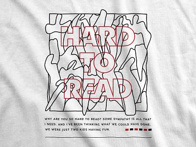 Cavalane - Hard To Read streetwear apparel apparel design typography merchandise design minimalistic simple merch design merchandise