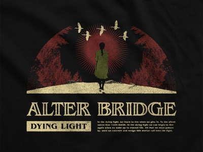 Alter Bridge - Dying Light dark illustration red and green death artwork merchandise design heavy metal iron maiden rock metal merchandise alter bridge