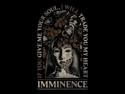 THE SICKNESS heart soul death girl flowers leaves depression t-shirt apparel sickness disease dark metalcore merch design merchandise