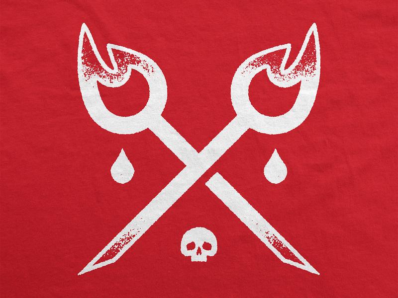 LOGOMARK-1 dark metal death deathcore metalcore burning matches waterdrop fire skull emblem logomark symbol branding logo