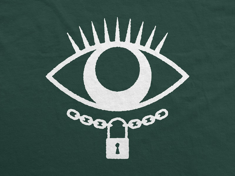 LOGOMARK-2 branding keyhole eyelashes chain eye lock symbol emblem logomark custom logo design