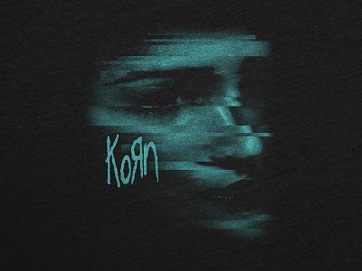 Chopped Face nu metal heavy metal woman portrait woman face chopped glitch blue merchandise merch design metal
