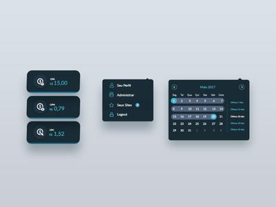 Dashboard menu Kit popover uidesign ux app buttons button date range menu dashboard ui design