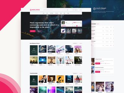 Online Music Platform material design design user interface landing page ui website song music
