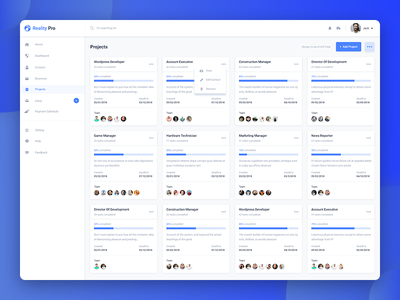 Freebie - Projects Page Design web website template project details project list admin template admin panel dashboard