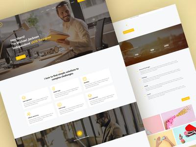 Portfolio Landing Page personal template personal design user interface template website landing page resume cv portfolio