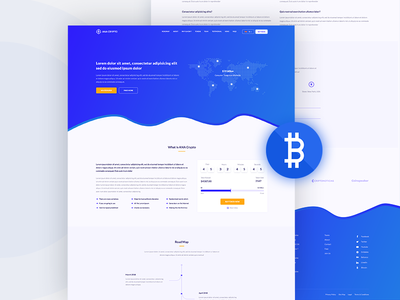 Cryptocurrency Landing Page one page web website bitcoin cryptocurrency landing page