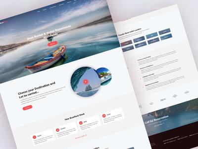 Boat Rental web website landing page car rental boat rental rental
