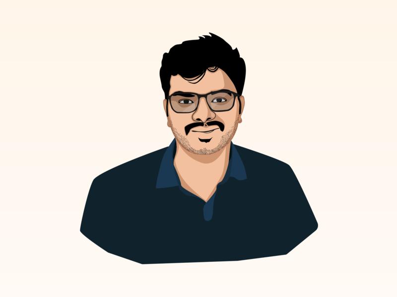 Digital Portrait - Akhilesh gift caricature friends digital portrait illustration birthday