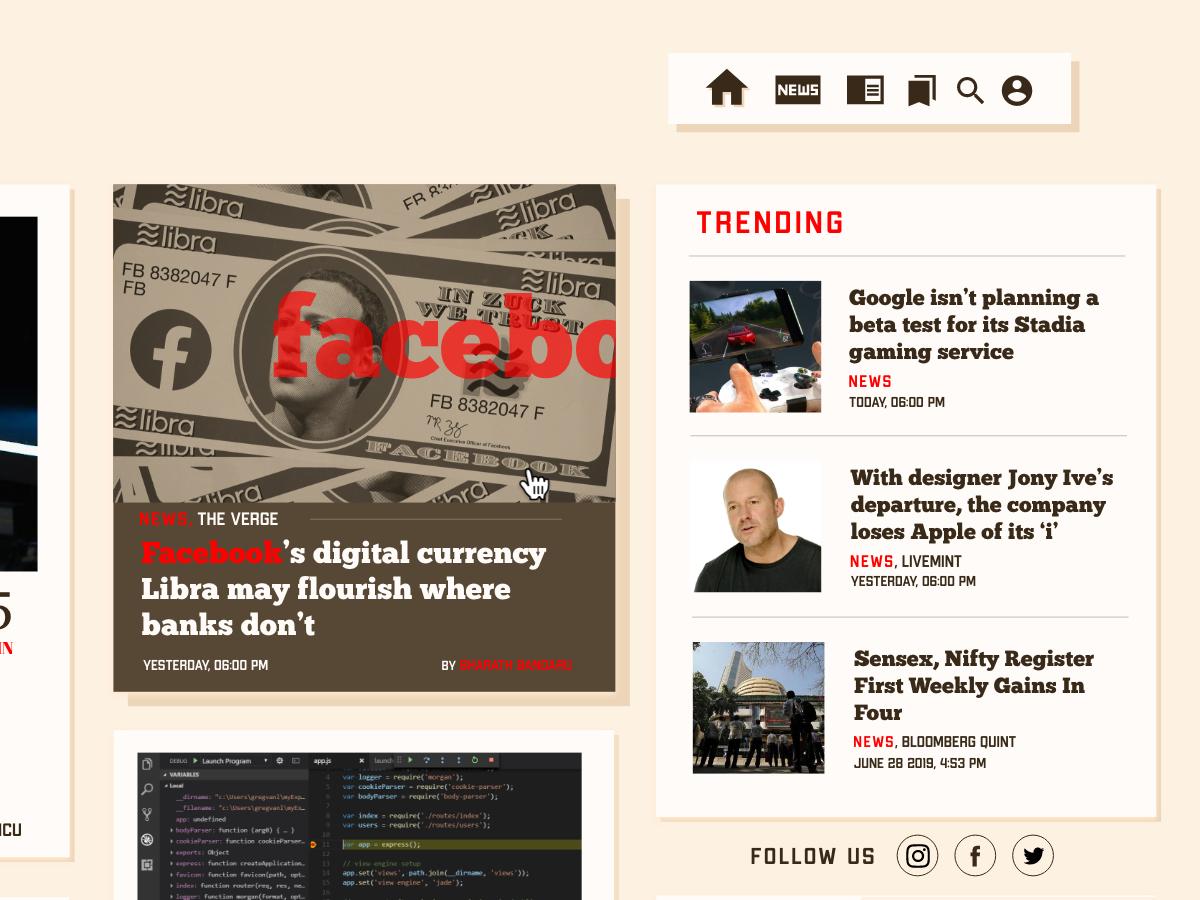Theory of Everything - Blog website typography ui design web design blog