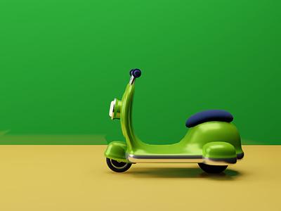 Cool 3D scooter ui logo illustration designer illustation graphics design 3d art 3d design render 3d