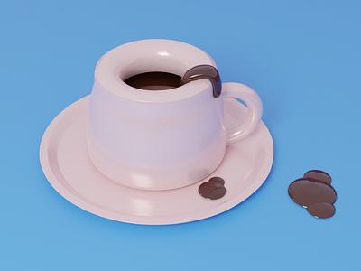 3D Coffee Cup animation ui graphic design branding logo motion graphics 3d designer illustation drawing webdesign graphics design