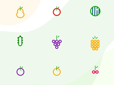 Fruit Icons + PSD