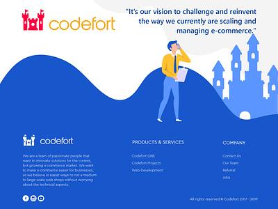 Codefort illustration branding vector psd graphics logotype logo website product design character design trendy designer illustation drawing webdesign design