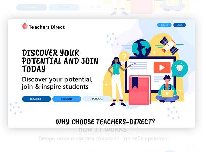 Teachers Direct Design logotype product design trendy clean designer illustation drawing graphics webdesign design