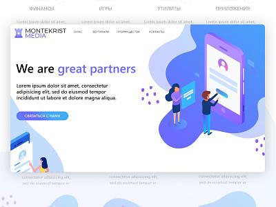 Montekrist Media LP psd website logotype illustation clean designer drawing graphics webdesign design landing page